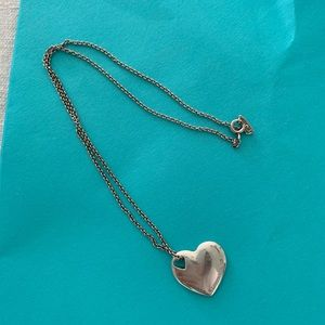 Vintage Tiffany's Heart Pendant Necklace
